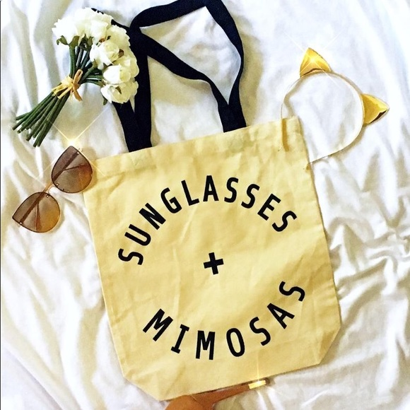 Sunglasses and Mimosas Canvas Tote